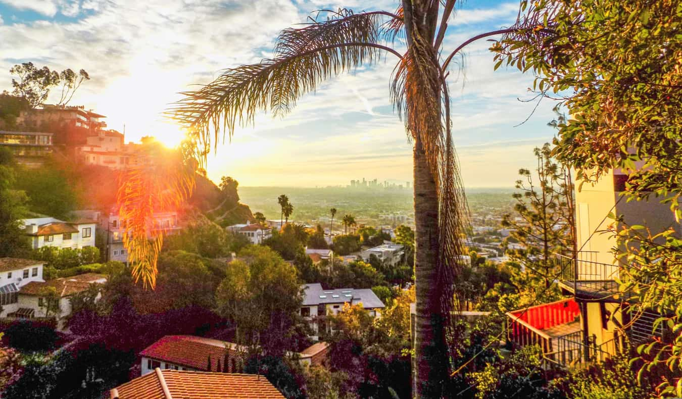 The view overlooking West Hollywood in Los Angeles, USA